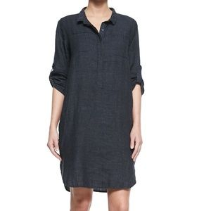 Eileen Fisher Linen Henley Dress Size large